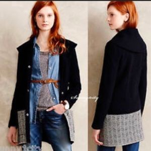 Anthropologie angel of the north leaf lace coat